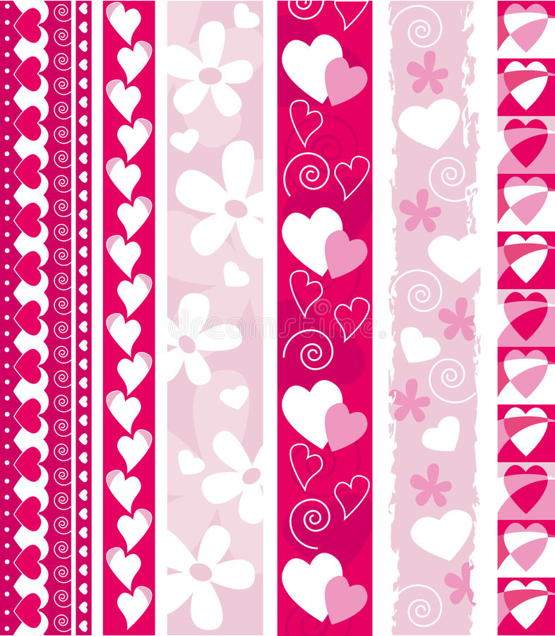 Vector Valentine border stock illustration