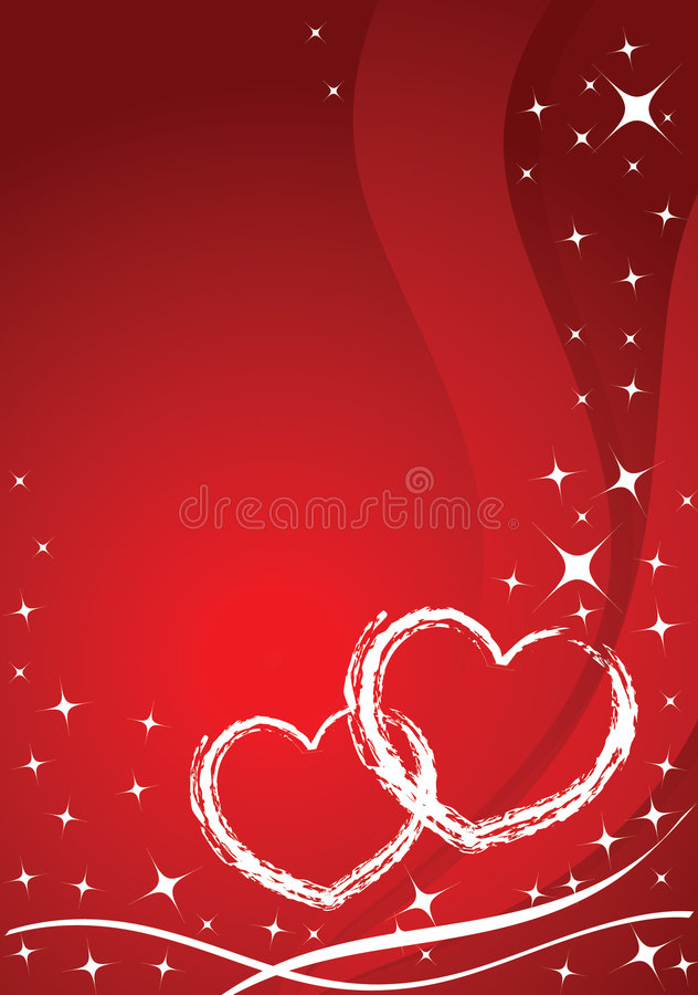 Vector valentine card. Stars and hearts royalty free illustration