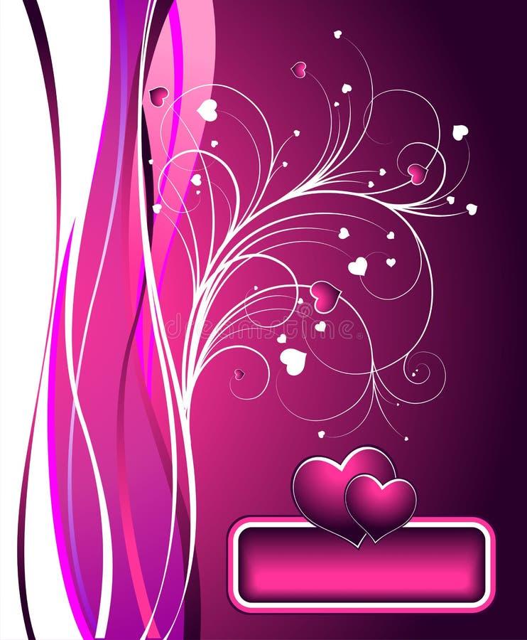 Vector Valentine's day illustration. Valentin day illustration with lovely hearths on pink background vector illustration