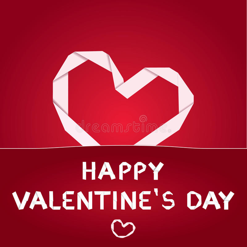 Vector Valentine's day paper royalty free stock photos