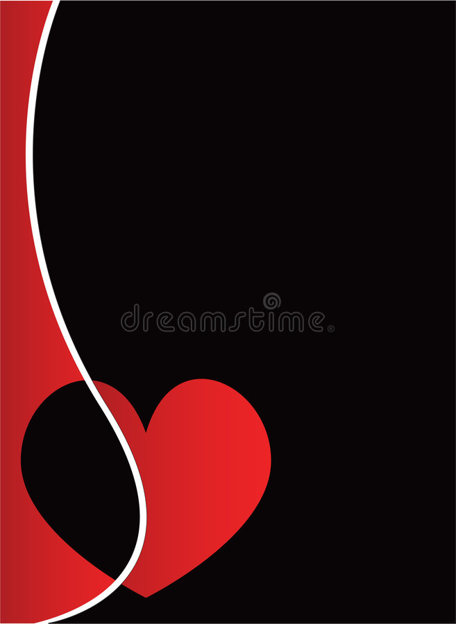 Vector valentine's hearts stock photo