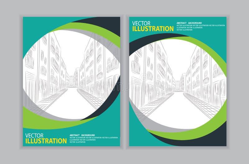 Vector van abstracte groene achtergrond stock illustratie