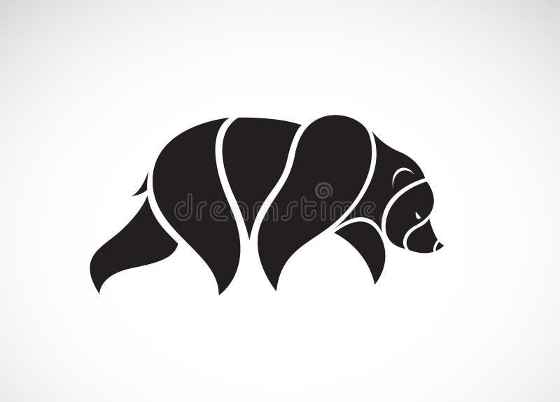 Vector van beerontwerp op witte achtergrond Wilde dieren Draag embleem of pictogram vector illustratie