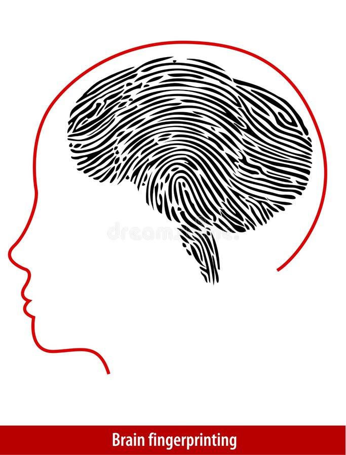 Vector van Brain Fingerprint vector illustratie