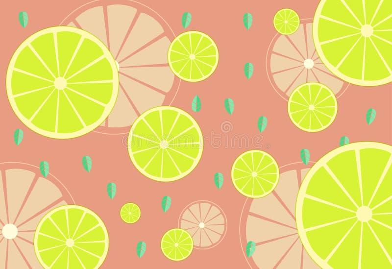 Vector van citroen Verse Citroenvruchten royalty-vrije stock afbeelding