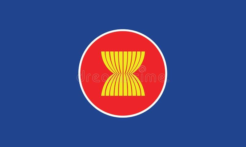 Vector van de aec-vlag stock illustratie