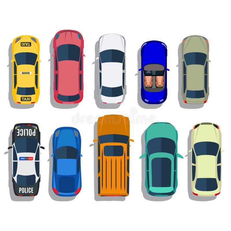 Vector van de auto's de hoogste mening vector illustratie