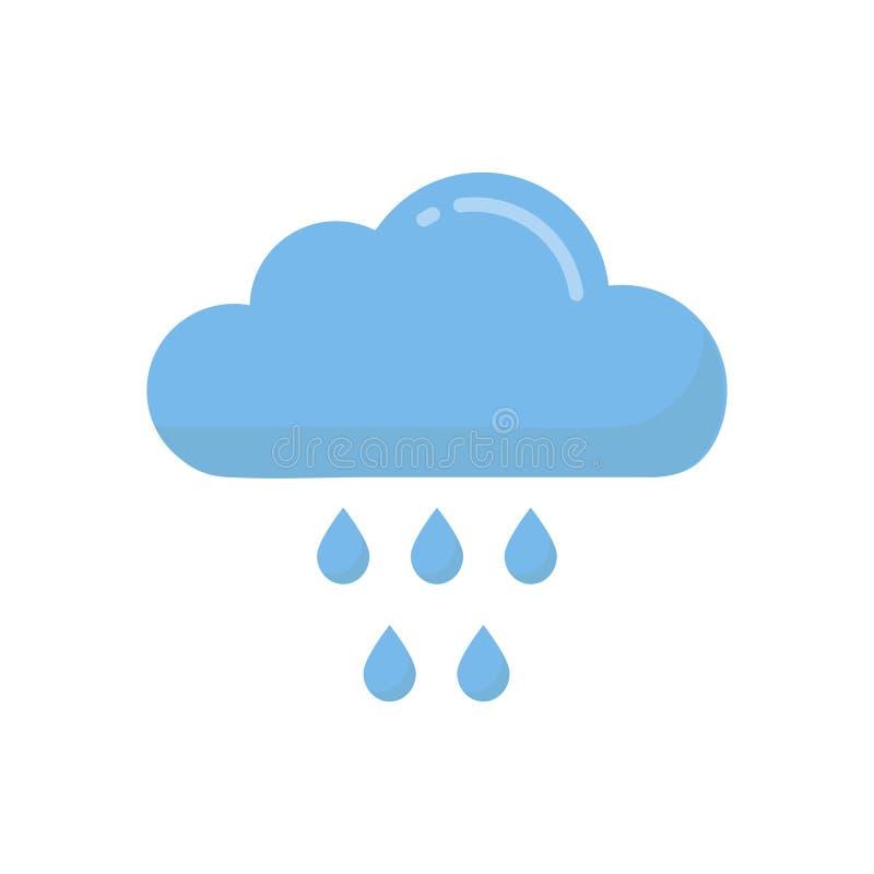 Vector van de beeldverhaal de regenachtige wolk vector illustratie