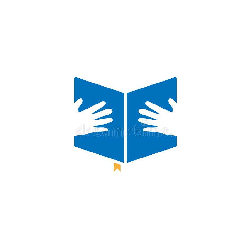 Vector van de boek de grafische ontwerpsjabloon vector illustratie