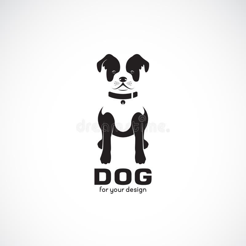 Vector van de buldog van de zittingshond op witte achtergrond Huisdier dieren Hondenembleem of pictogram Gemakkelijke editable ge stock illustratie