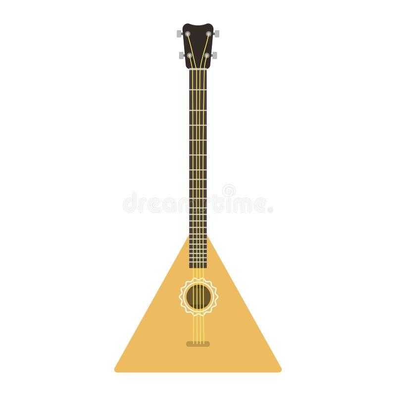 Vector van de de gitaar volks muzikale melodie van de instrumentenbalalaika het symbool akoestische correcte klassieke viool en n royalty-vrije illustratie