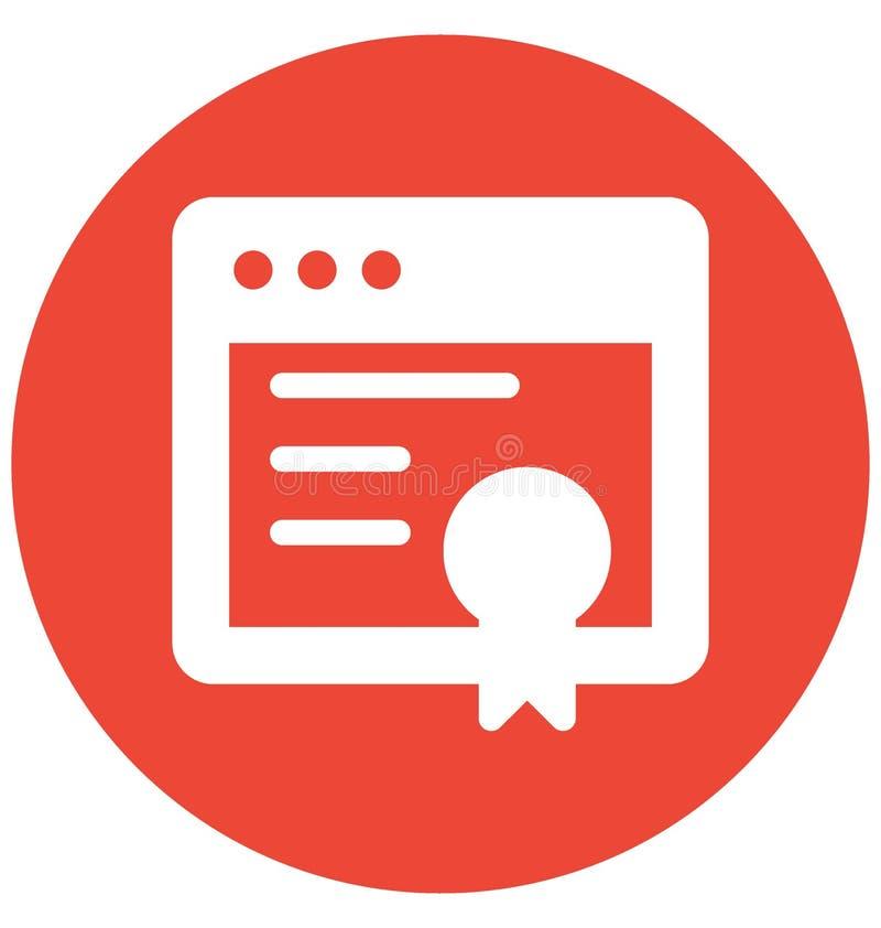 Vector van de druktoekenning met betrekking tot Webbrowservensters en de volledig editable vector illustratie