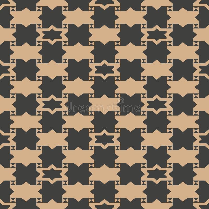 Vector van de van het achtergrond damast naadloos retro patroon de meetkunde dwarskader sterveelhoek Het elegante ontwerp van de  vector illustratie