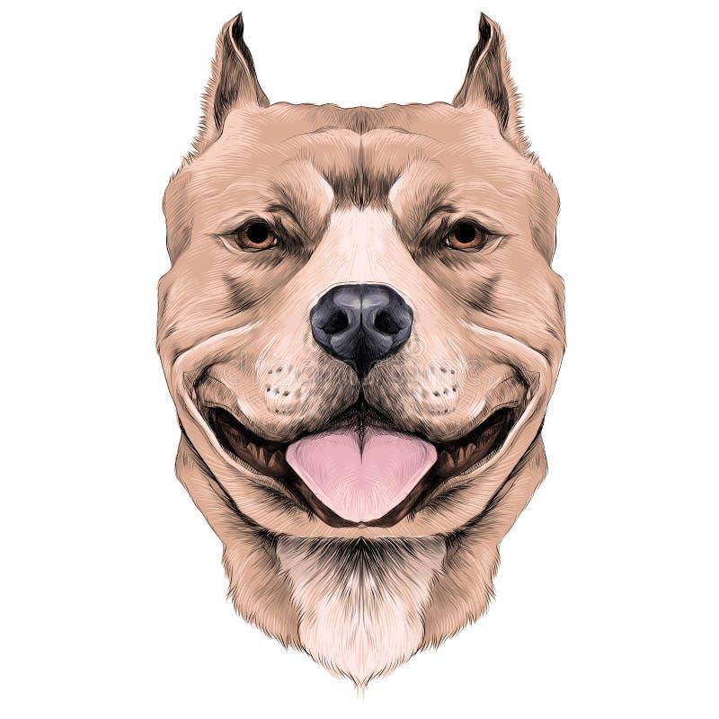 Vector van de hond de hoofdschets stock illustratie