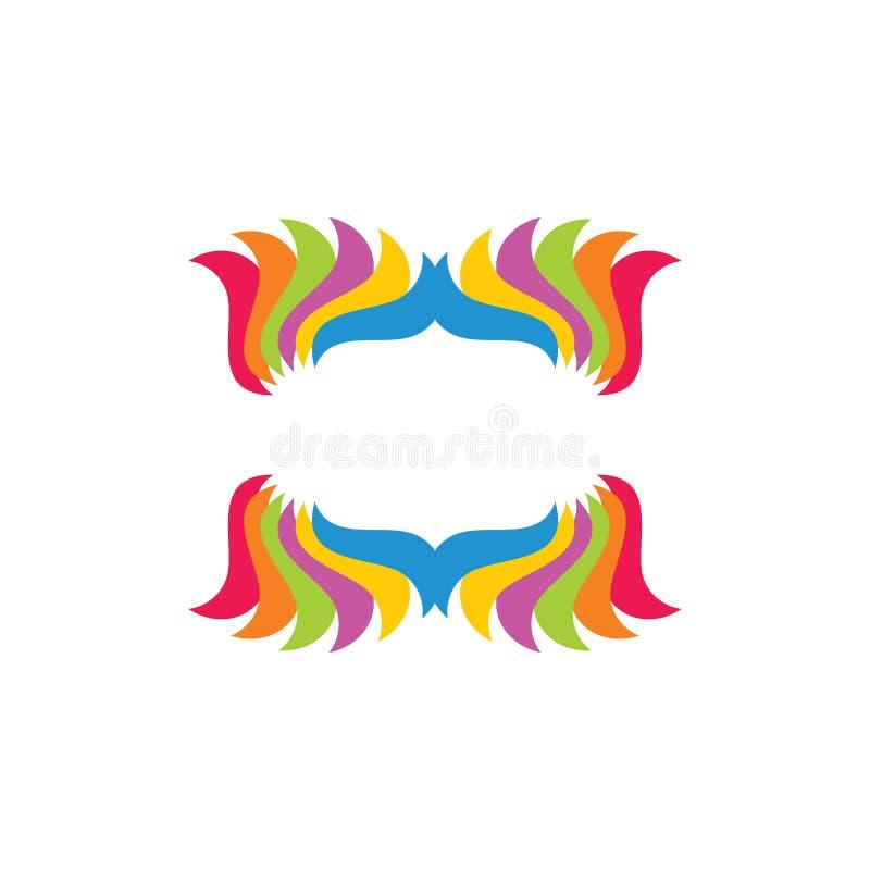 Vector van de krommen de kleurrijke decoratie vector illustratie