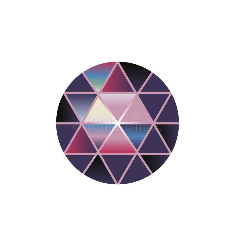 Vector van de multisteen van de kleurengem om diamanten op wit stock illustratie
