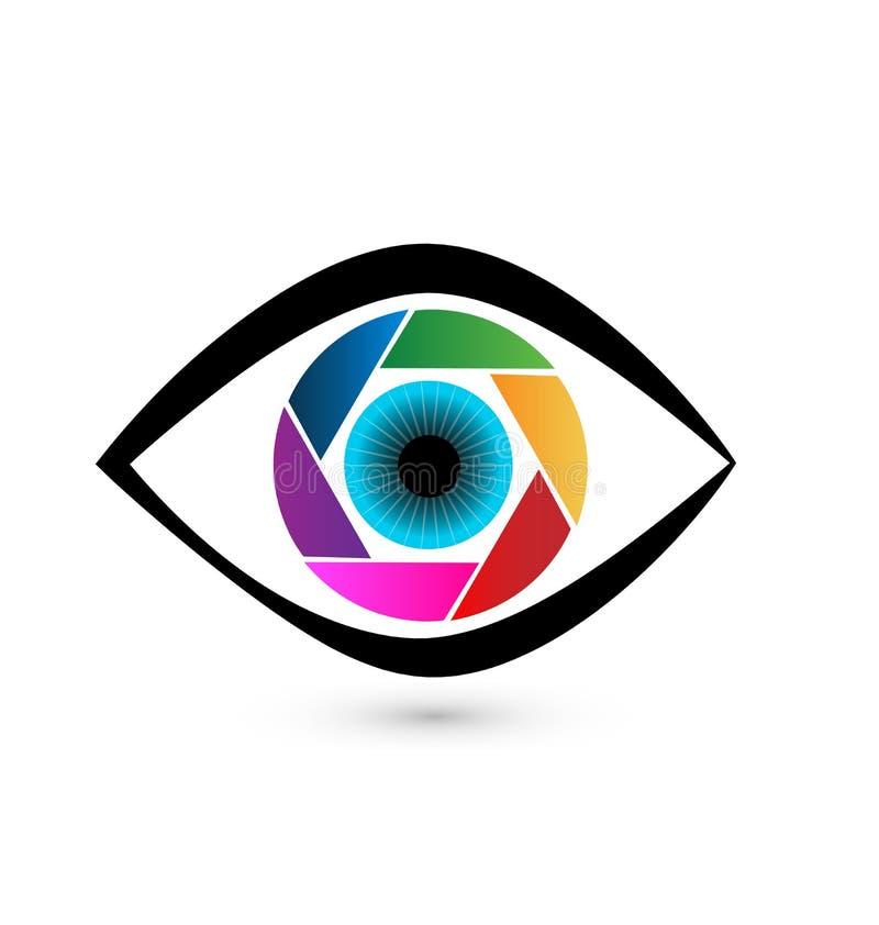 Vector van de oog de kleurrijke iris stock illustratie