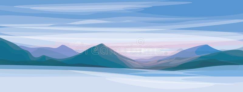 Vector van de winterlandschap. vector illustratie