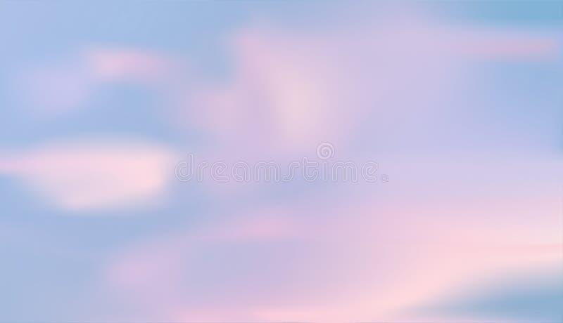 Vector van de wolken en de blauwe hemel vector illustratie