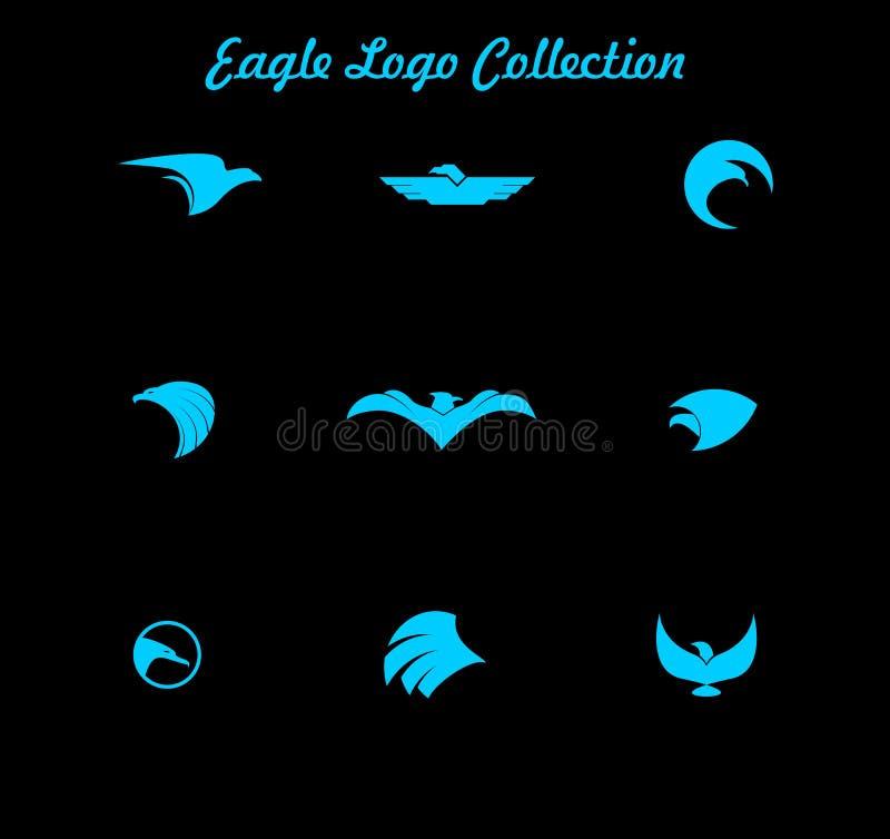 Vector van Eagle Logo Collection, Eagle Company Logo royalty-vrije illustratie