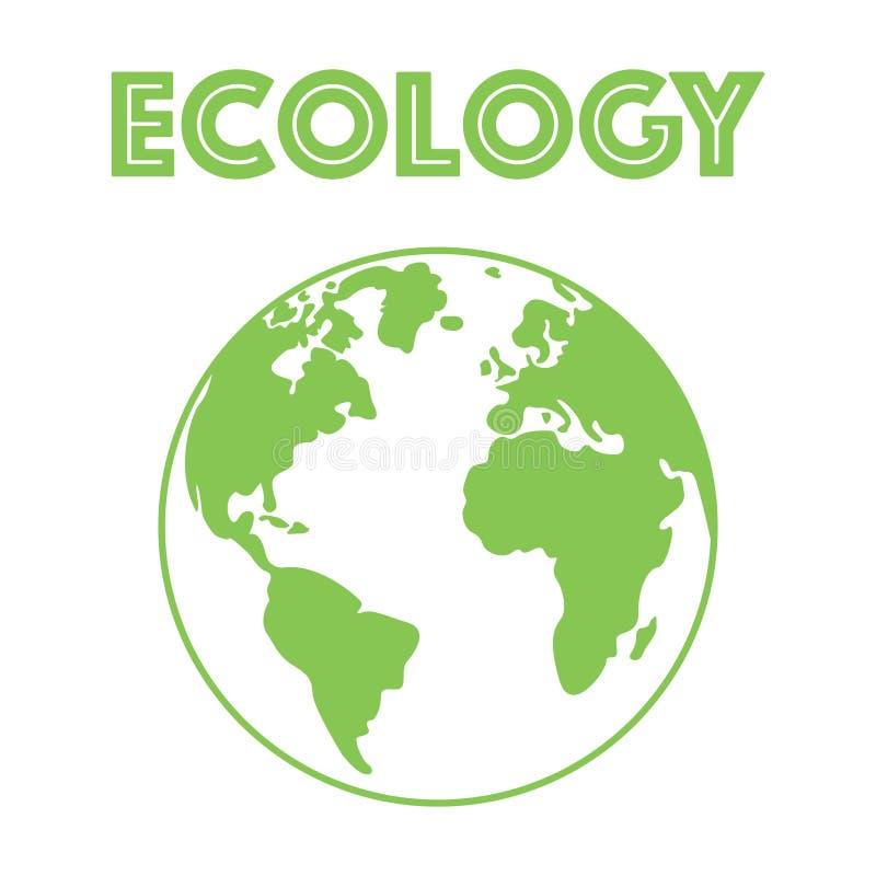 Vector van een combinatie van het aardeembleem Planeet en ecosymbool of pictogram Uniek globaal en natuurlijk, organisch logotype vector illustratie
