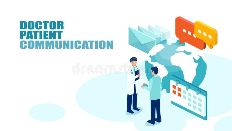 Vector van een geduldige vergadering een arts voor jaarlijkse controle vector illustratie