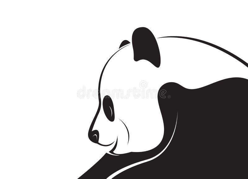 Vector van een pandaontwerp op een witte achtergrond royalty-vrije illustratie
