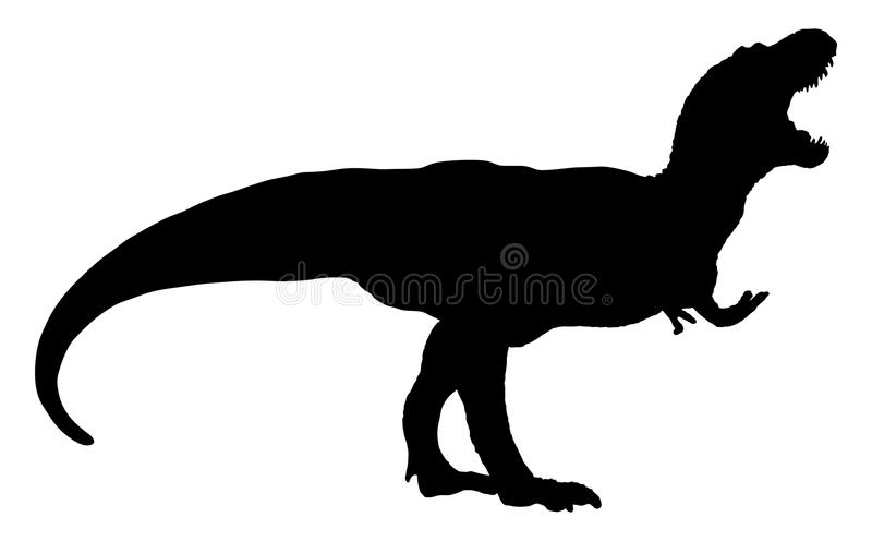 Vector van een tyrannosaurus rex T rex silhouet vector illustratie