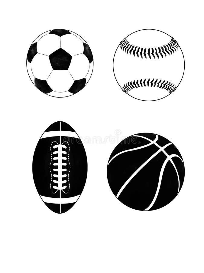 Vector van geïsoleerde sportuitrusting royalty-vrije illustratie