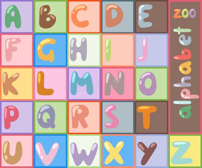 Vector van gestileerde doopvont abc type het symbool creatieve lettersoort en alfabet die van de ontwerpbrief typografische eleme stock illustratie