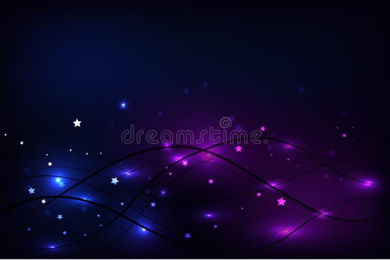 Vector van gloeiende golvenachtergrond stock foto