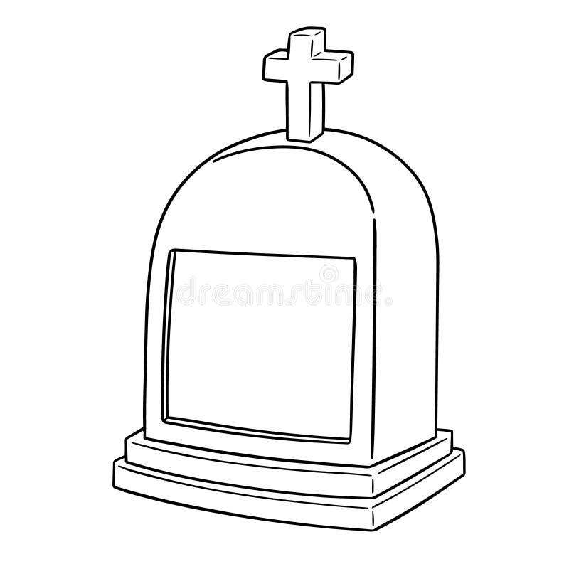 Vector van grafsteen royalty-vrije illustratie