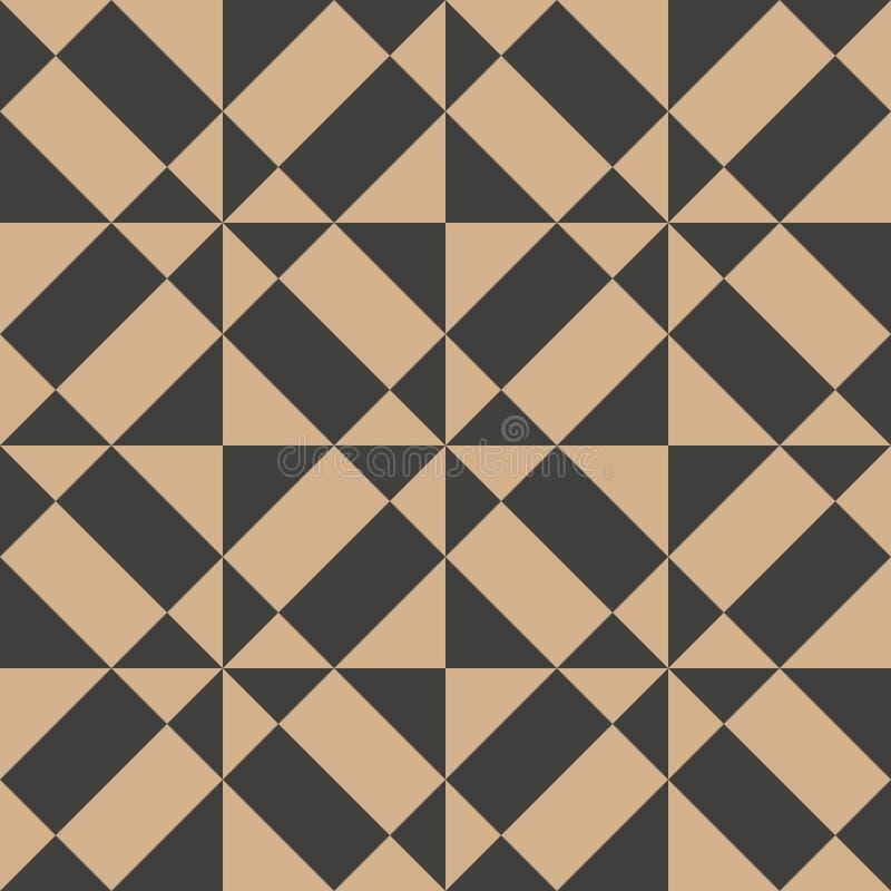 Vector van het achtergrond damast naadloze retro patroon meetkunde dwars spiraalvormige vierkante driehoek Het elegante ontwerp v stock illustratie