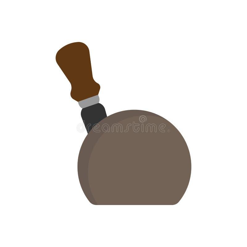 Vector van het het blad de houten pictogram van de messenhouder Uitstekend het werktuigmateriaal van bestekgaten royalty-vrije illustratie