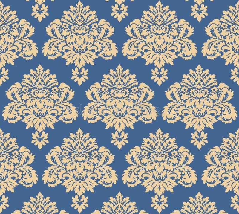 Vector van het damast de bloemenpatroon royalty-vrije stock afbeeldingen