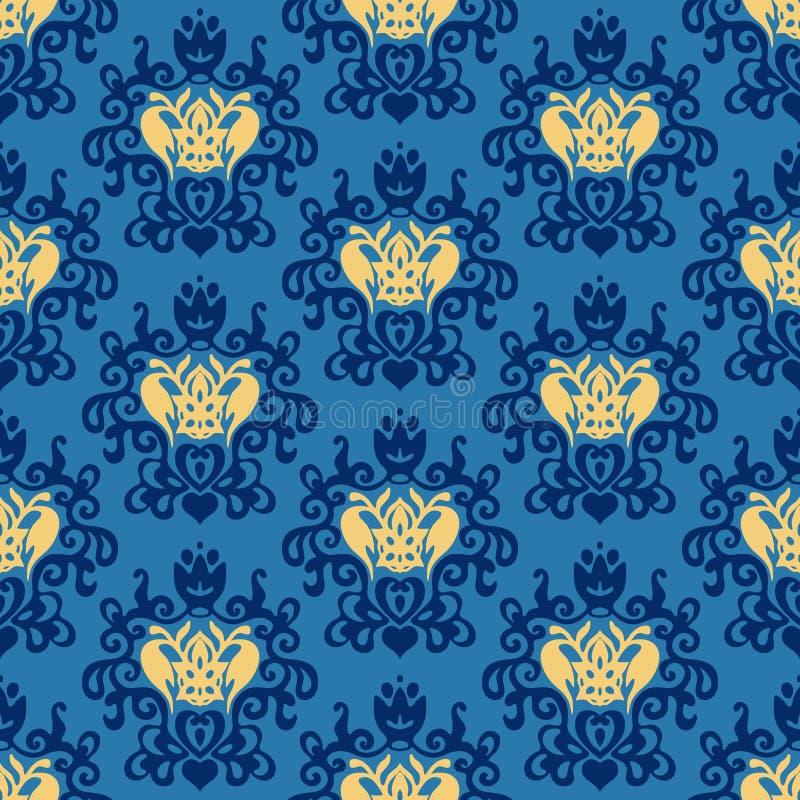 Vector van het damast de Koninklijke naadloze geklets vector illustratie