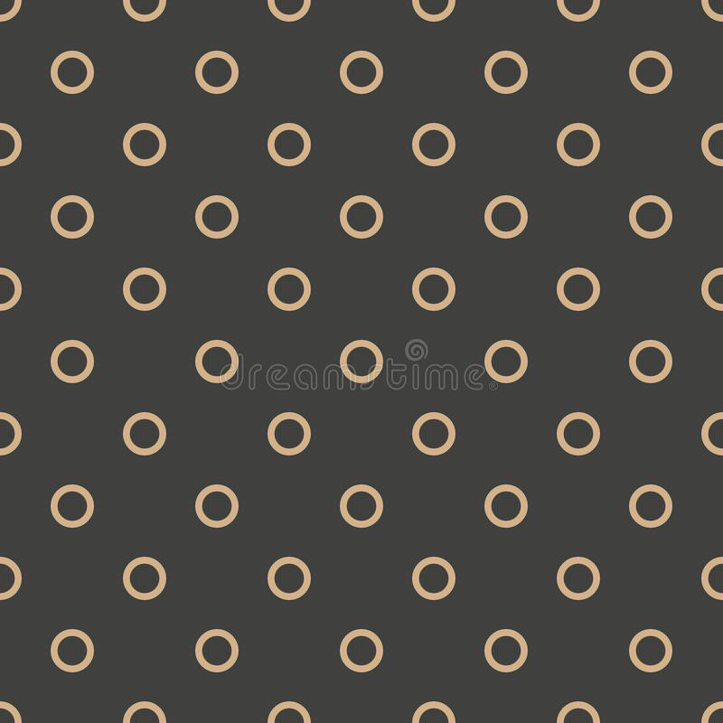 Vector van het damast naadloze retro patroon meetkunde als achtergrond om dwarskader Het elegante ontwerp van de luxe bruine toon stock illustratie