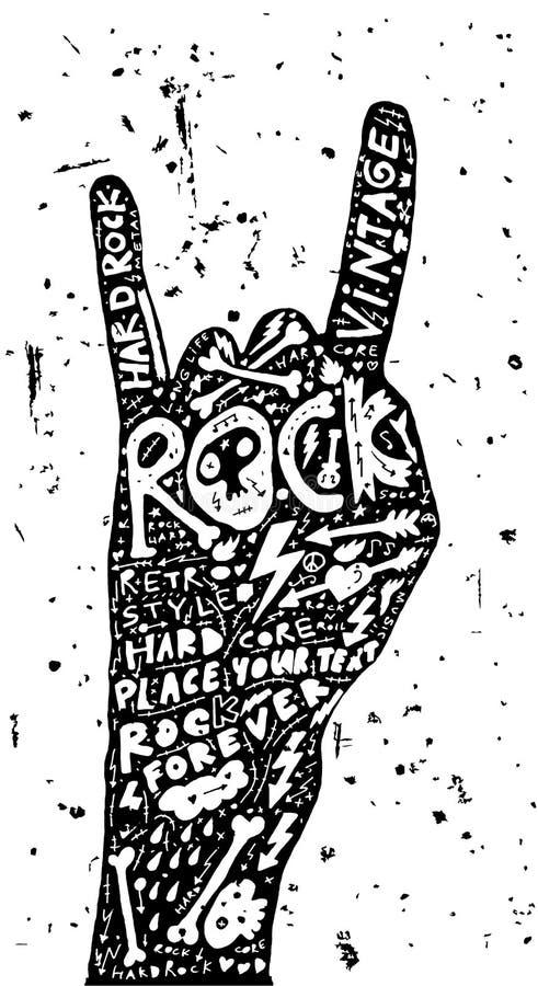 Vector van het de Affiche de Uitstekende Etiket van het harde Rotsbroodje vector illustratie