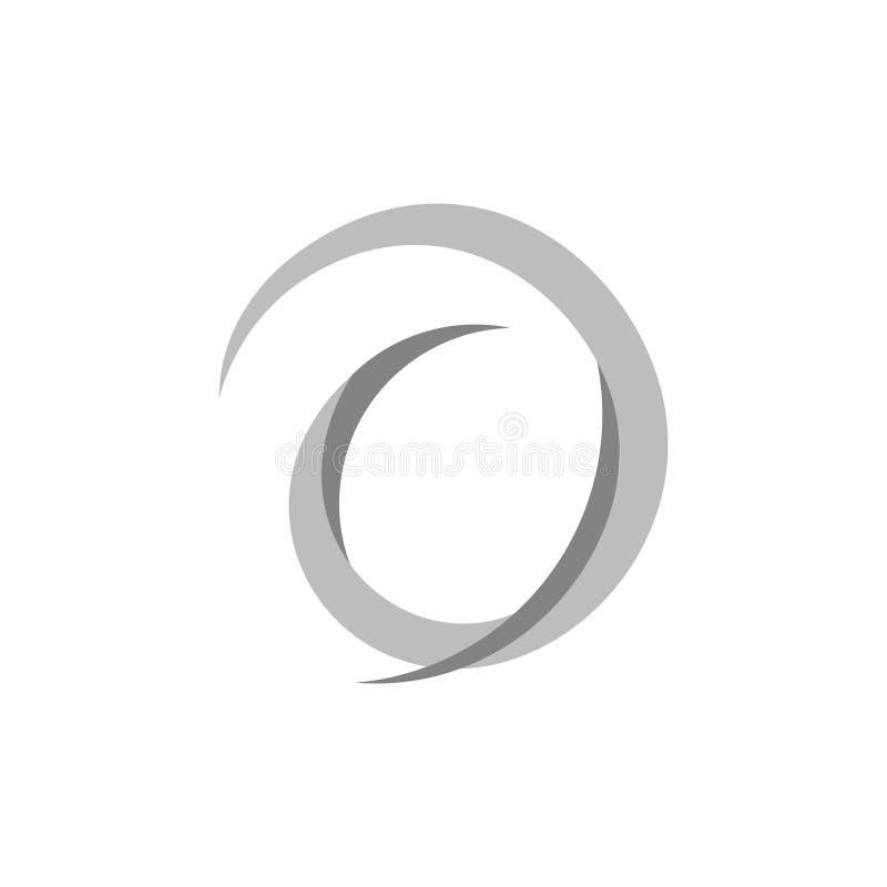Vector van het de bewegingsembleem van cirkel de spiraalvormige 3d krommen vector illustratie