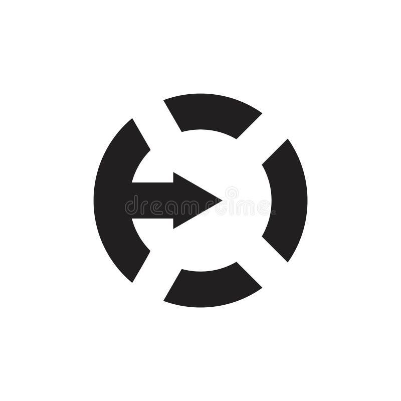 Vector van het de cirkelembleem van de brievene de eenvoudige pijl geometrische vector illustratie