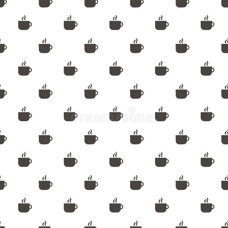 Vector van het de kop de Abstracte Geometrische Behang van de patroonkoffie illustrat stock illustratie