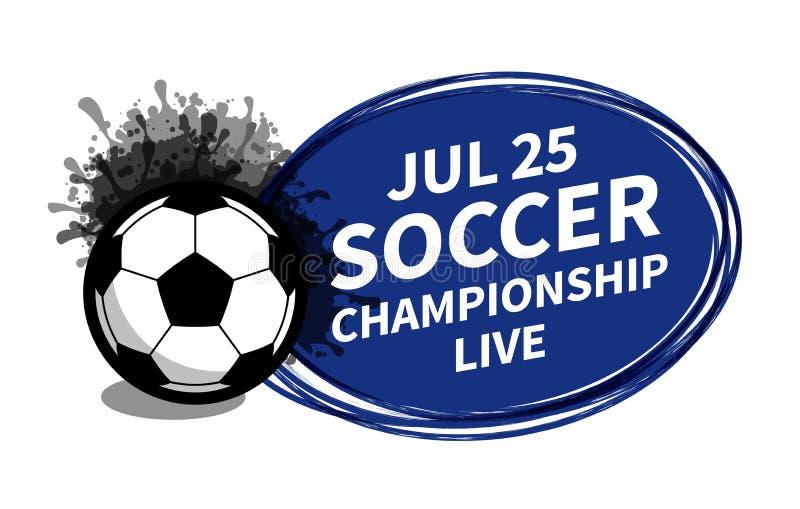 Vector van het de sportscorebord van de voetbalvoetbal de schijnwerperplaats als achtergrond voor de advertentie van de exemplaar vector illustratie