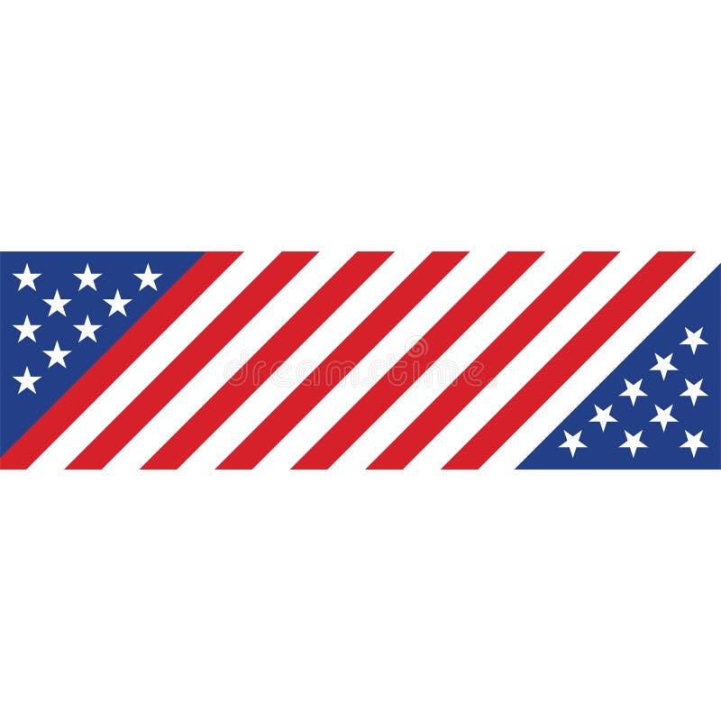 Vector van het de vlaggenconceptontwerp van de voorraad de vector Amerikaanse vlag illustrat vector illustratie