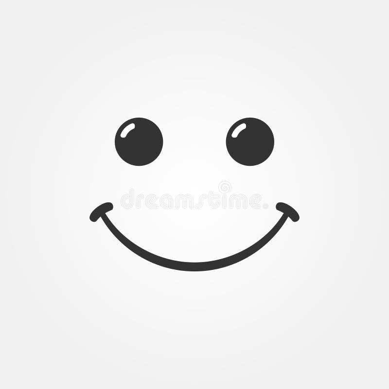 Vector 2 van het glimlachpictogram stock illustratie