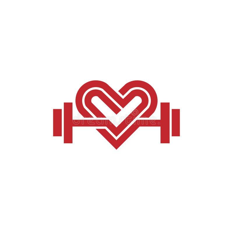 Vector van het liefde de geschikte embleem stock illustratie