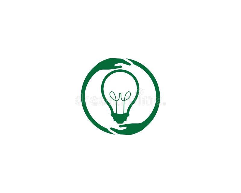 Vector van het het malplaatjeontwerp van de Eco de groene bol elektro royalty-vrije stock foto