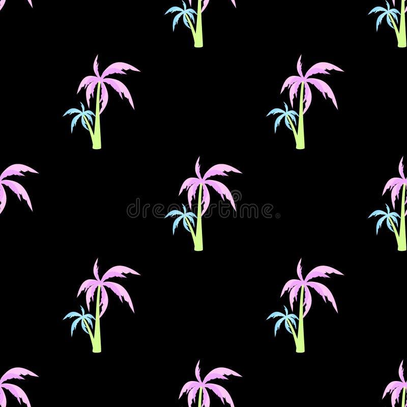 Vector van het palm de naadloze patroon vector illustratie