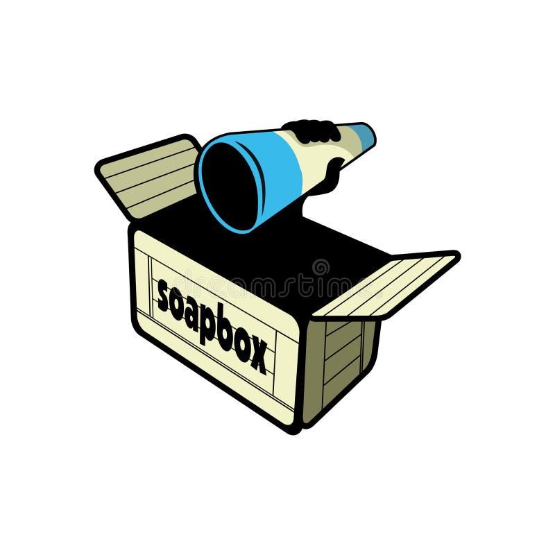 Vector van het Soapbox de vectorontwerp vector illustratie