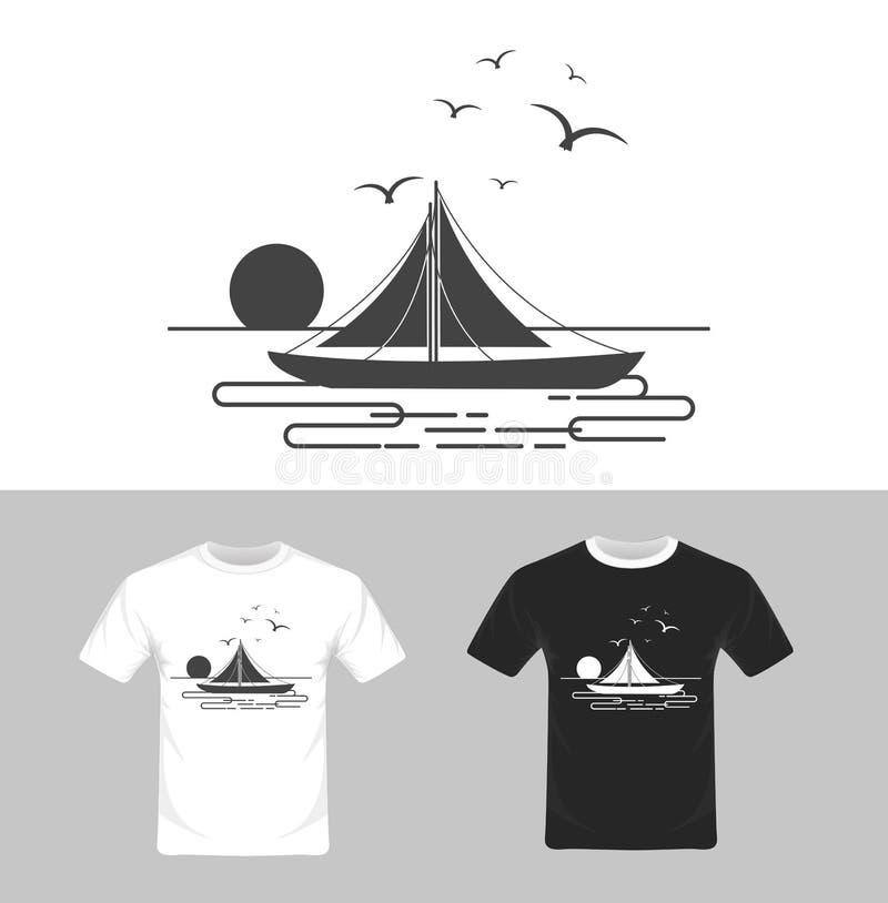 Vector van het t-shirt de grafische ontwerp stock illustratie