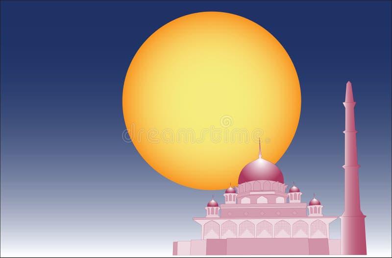 Vector van Islamitische moskee stock illustratie
